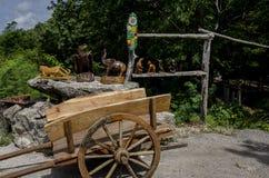 Un talento degli intagliatori del legno Fotografia Stock Libera da Diritti