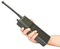 Un talkie-walkie à disposition Image libre de droits