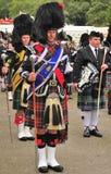 Tambor mayor escocés, Braemar, Escocia imagenes de archivo