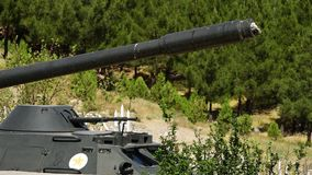 Un tanque de batalla viejo almacen de video