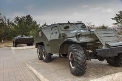 Un tanque viejo exhibido como monumento en Victory Park en Ereván imagenes de archivo