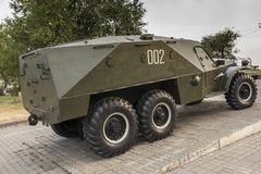 Un tanque viejo exhibido como monumento en Victory Park en Ereván imagen de archivo libre de regalías