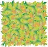 Un tappeto delle foglie di acero Struttura del fogliame di autunno illustrazione di stock