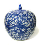 Un tarro chino del jengibre Imagen de archivo libre de regalías