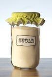 Un tarro de azúcar Foto de archivo libre de regalías