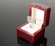 Un tasto in contenitore di gioiello Fotografie Stock