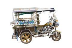 Un taxi a tre ruote isolato fotografia stock