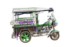 Un taxi a tre ruote isolato immagini stock libere da diritti