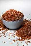Un tazón de fuente de arroz moreno Foto de archivo libre de regalías