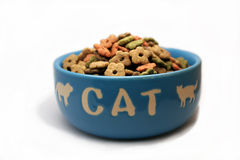 Un tazón de fuente de catfood Imagenes de archivo
