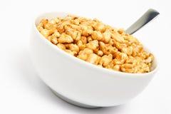 Un tazón de fuente de cereal para el desayuno Foto de archivo