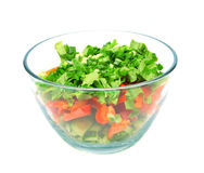Un tazón de fuente de ensalada Foto de archivo