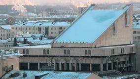 Un teatro tártaro nacional de Kazán en el centro de la ciudad almacen de metraje de vídeo