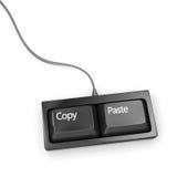 Copie el teclado de la goma Foto de archivo