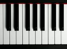 Un teclado de piano viejo Fotos de archivo
