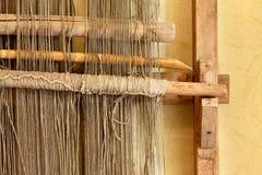 Un telaio a mano antico usato per tessere le coperte Fotografie Stock