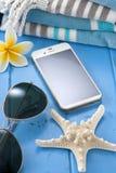 Vacanza di viaggio del telefono cellulare Fotografia Stock