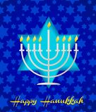 Un tempalte feliz de la tarjeta del hanukah Imagenes de archivo