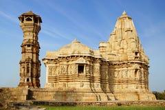 Un tempiale antico nella fortezza di Chittorgarh. immagine stock libera da diritti
