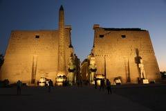 Un tempio che ho visitato a luxur Egitto fotografie stock libere da diritti