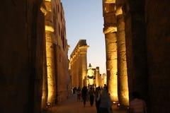 Un tempio che ho visitato a luxur Egitto fotografia stock libera da diritti