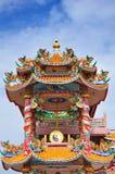 Un tempio cinese altamente variopinto Immagine Stock