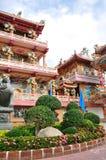 Un tempio cinese altamente variopinto Fotografie Stock