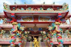 Un tempio cinese altamente variopinto Immagini Stock Libere da Diritti