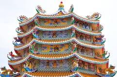 Un tempio cinese decorativo Fotografie Stock Libere da Diritti