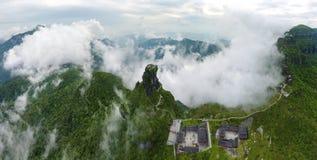 Un tempio sulle nuvole Fotografia Stock