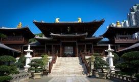 Un temple bouddhiste, Kowloon, Hong Kong Photographie stock libre de droits