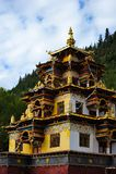 Un temple de bouddhisme de type du Thibet Image stock