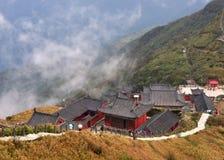 Un temple sur la montagne de Fanjing Photos stock