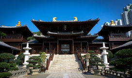Un templo budista, Kowloon, Hong-Kong fotografía de archivo libre de regalías