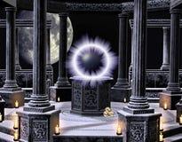 Un templo de hechizo ilustración del vector