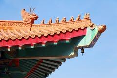 Un templo del chino tradicional en Tailandia Imágenes de archivo libres de regalías