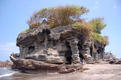 Un templo en la porción Bali de Tanah Foto de archivo libre de regalías