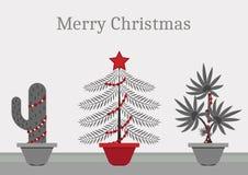 In un tempo di natale ogni pianta è un albero di Natale illustrazione di stock