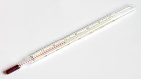 Un termómetro en la escala de Celsium imágenes de archivo libres de regalías