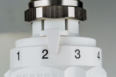 Un termóstato de la calefacción Imagen de archivo
