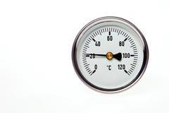 Un termometro circolare. Immagine Stock