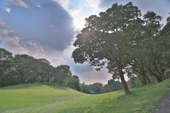 un terrain de golf de club national en Hong Kong photo stock