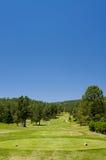 Un terreno da golf dell'Arizona un giorno di estate Immagine Stock