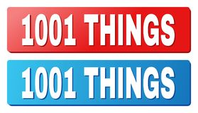 Un testo di 1001 COSA sui bottoni blu e rossi di rettangolo illustrazione vettoriale