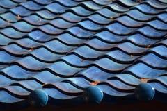 Un tetto blu Immagini Stock Libere da Diritti