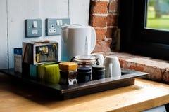Un thé de matin dans le côté anglais de pays Photo stock