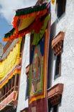 Un Thangka o una pittura buddista tibetana di Lord Padmashambhava, il fondatore di buddismo in Ladakh Immagini Stock