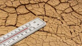un thermomètre dans le désert Images libres de droits