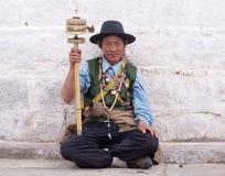 un tibetano maschio Fotografie Stock Libere da Diritti