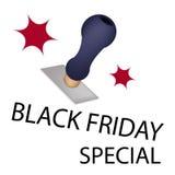 Un timbro di gomma con lo speciale di Black Friday di parola Immagine Stock Libera da Diritti